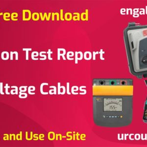 Insulation Test Report of Low Voltage Cables