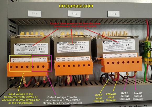 Step down transformers inside BMS Panel